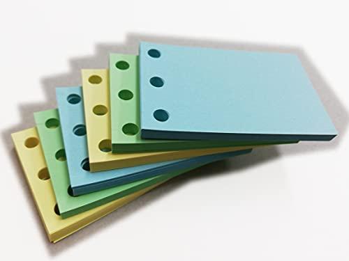 Recarga de 300 hojas de papel Fsc de color, 90 g/m², 100 x 3col, formato 85 x 55 mm, multiajuste