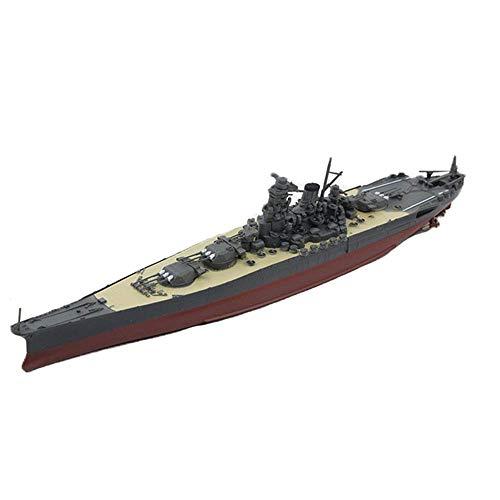 JHSHENGSHI Modelo de plástico Militar a Escala 1/700, Regalos de decoración de Acorazado Yamato de la Marina Japonesa de la Segunda Guerra Mundial, 5,4 Pulgadas