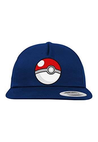 Youth Designz Kinder Junior Cap Kappe Modell Pokeball - Navyblau