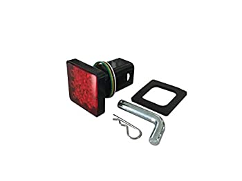 MAXXHAUL 50021 Trailer Hitch Cover With 12 LED s Brake and Tail Light Functions 1 Pack