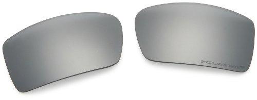 Oakley Men's Gascan Sunglasses Replacement Lenses, Black Iridium Polarized, 60 mm