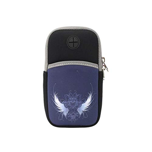 Bolsa de deporte con diseño de dibujos animados para teléfono móvil, para correr, unisex, universal, para brazo, para fitness, muñeca y deportes (color: C, tamaño: 16 x 8,5 cm)