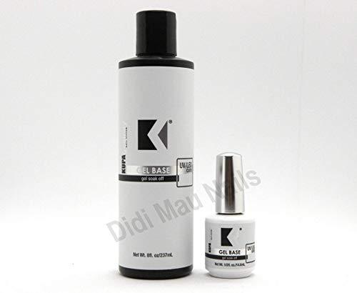 Kupa GelFinity Duo Gel Base Foundation and Gel Top Matte Gel Polish Top Coat-Soak Off Nail LED/UV Cure No Wipe Finishing (Gel Base 8oz Refills)