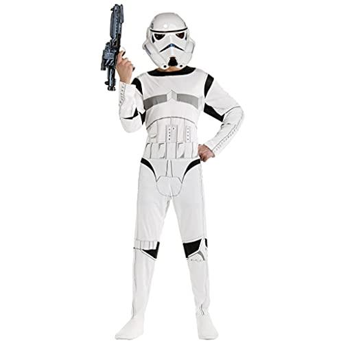 Carnaval Ropa Star War Storm Trooper Darth Vader Anakin Skywalker Niños Cosplay Party Traje Ropa Cape Máscara (Color : Multi-colored, Size : L)