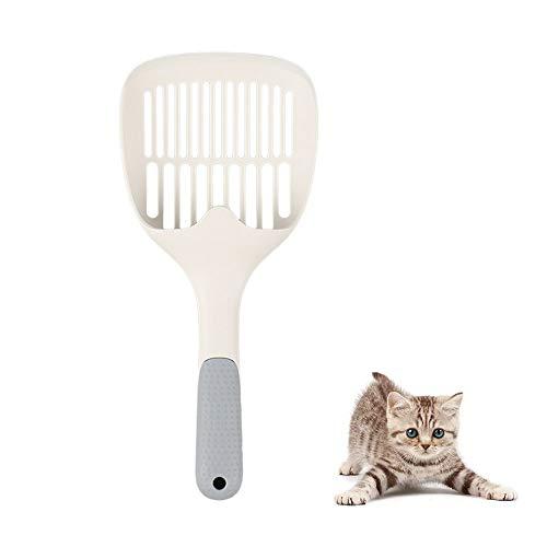 zfdg Pala para Arena de Gatos, Pala Plástico para Gato, Basura de Plástico Pala, Pala de Basura para Gatos, para Gatos Perros Mascotas Arena Inodoro Herramienta de Limpieza (Blanco)