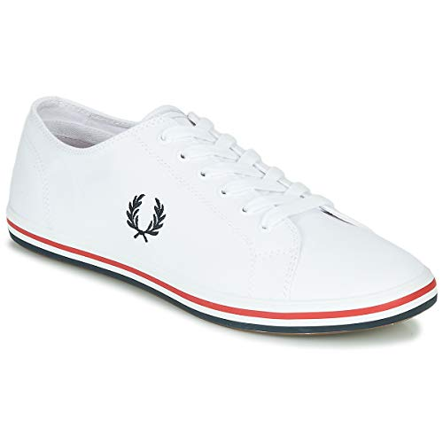 FRED PERRY Kingston Twill Zapatillas Moda Hommes Blanco - 44 - Zapatillas Bajas