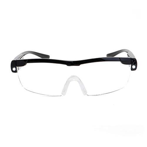 buycheapDG(JP) 拡大鏡 めがね 1.6倍 LEDライト ルーペ 1.6倍 拡大ループ メガネ型ルーペ メガネ型拡大ルーペ 読書用 メガネタイプの拡大鏡 おしゃれ