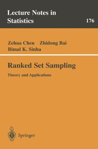 Ranked Set Sampling: Theory and Applications (Lecture Notes in Statistics) by Zehua Chen Zhidong Bai Bimal Sinha (2003-11-03)