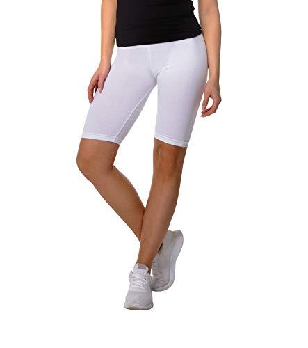 BeComfy dames wielerbroek leggings van katoen sport shorts korte knielengte ondoorzichtig rood zwart blauw geel grijs grafiet wit 36-56