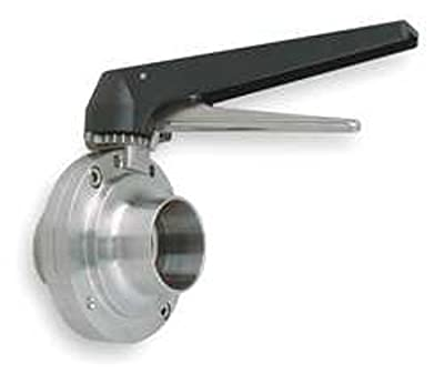 """Steel and Obrien BFVTC-4-316 Stainless Steel Clamp Butterfly Valve, Trigger Handle, 4"""" by Steel and Obrien"""