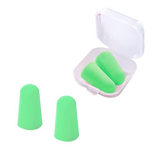 Clyhon (4 pares) Tapones para los Oídos de Espuma Tapones de Protección Auditiva de Espuma Suave Protección Auditiva Tapones para los oídos con cancelación de ruido para dormir, estudiar, verde