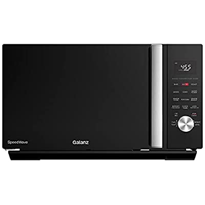 Galanz GSWWA16BKSA10 3-in-1 SpeedWave with TotalFry 360, Microwave, Air Fryer, Convection Oven with Combi-Speed Cooking, 1.6 Cu.Ft/ 1000W, Black