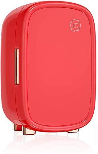 XBR Nevera pequeña portátil AC/DC Mini 12L Nevera Refrigeradores de Maquillaje de Doble Uso para el Cuidado de la Piel y cosméticos, Rojo