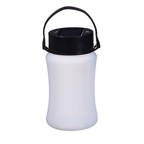 Evergreen Garden Firefly Frosted White Silicone Solar Lantern