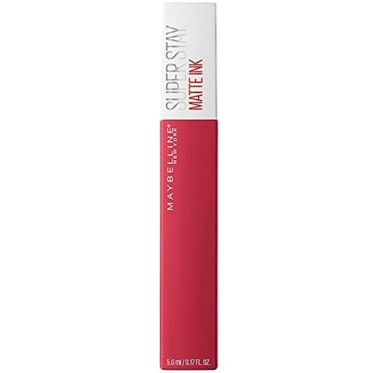 競争彫る安全[Maybelline ] メイベリンSuperstayマットインク液口紅80定規5ミリリットル - Maybelline Superstay Matte Ink Liquid Lipstick 80 Ruler 5ml [並行輸入品]