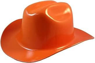 Western Cowboy Hard Hat with Ratchet Suspension - Orange