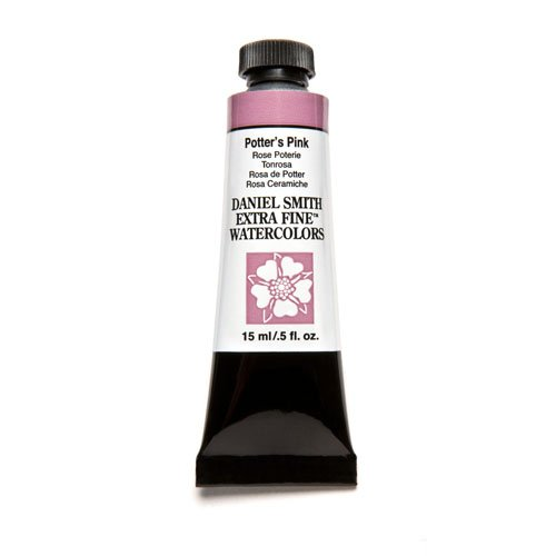 DANIEL SMITH Extra Fine Watercolor 15ml Paint Tube, Potter's Pink Pinkcolor