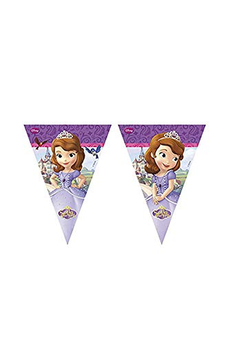 Unique Party Partido Ênico 2,3 m Disney Sofia The First Bunting Banner