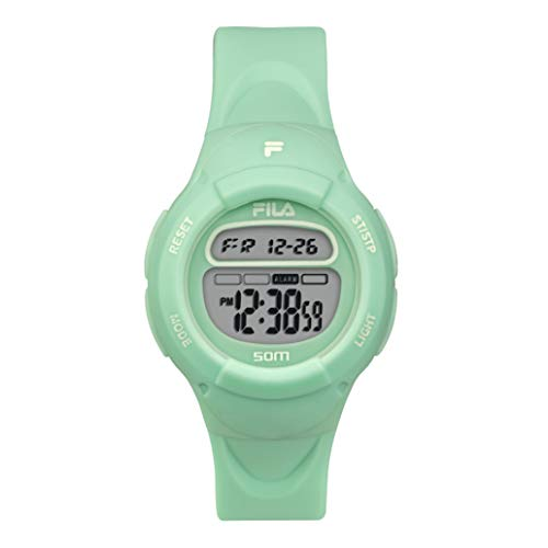 FILA Kids Digital Watch - Girls Watches Ages 7-10 - Gifts for 7 Year Old Girl - Gifts for Preteen Girls - Kids Sports Watch - Girls Digital Watch - Kids Silicone Watch - Fila Watch Turquoise