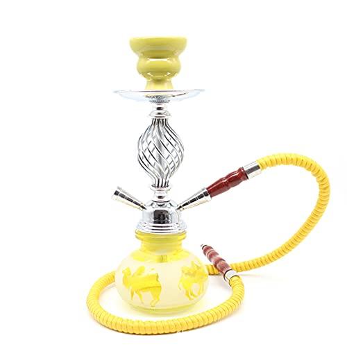 TVVT Completo CHOOHAH Set Shisha Kit FABRICO DE Fumador DE Fail DE Fumador DE Agua Bong Hookah Accesorios DE Combustible Kit DE Combo, con MANTALIZA Metal Modern Modern C Yellow