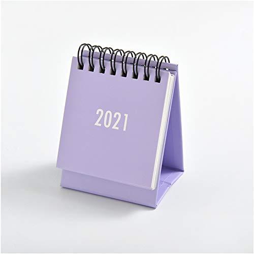 NUATE Flip Standing Desk Calendar,Mini Monthly Desktop Calendar,Wall Calendar for Daily Schedule Planner,Great for Home and Office Decor(Purple)