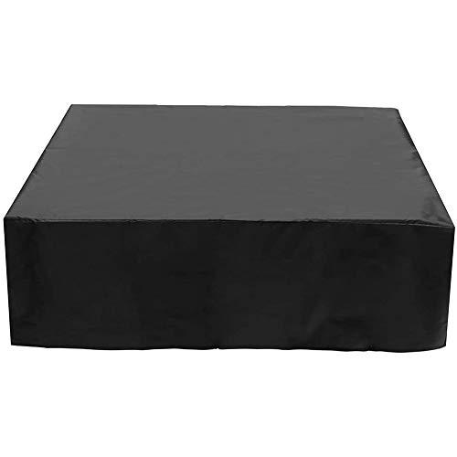 DZYP Whirlpool-Abdeckung, Whirlpool-Abdeckung, Whirlpool Cover, 100% UV, Staub, Hitze Und Kälte-Schutzhülle. (200 x 200 x 85 cm,Schwarz)