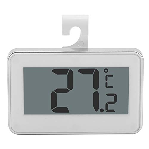 Termómetro digital impermeable para nevera con pantalla LCD digital LCD con imán ajustable