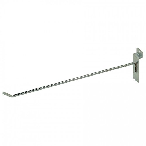 NAHANCO XT12 Line Slatwall Hook, 3/16' Thick (Pack of 12)