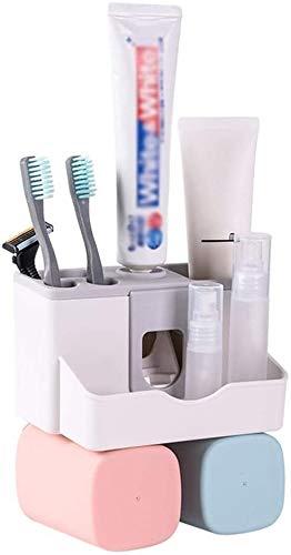 AINIYF Montado en la pared del baño plataforma de baño Ducha de almacenamiento en rack cepillo de dientes titular de pasta de dientes del sacador de múltiples funciones libre, 3 tamaños (Color: C-16x1
