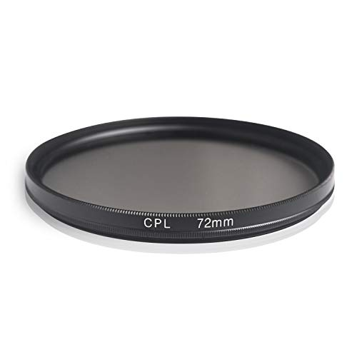 Ares Foto® CPL Zirkular-Polfilter Polarisationsfilter, optisches Glas & Aluminium. Für Canon Sony Nikon Fujifilm Pentax Tamron Sigma Leica Olympus Panasonic (72mm)