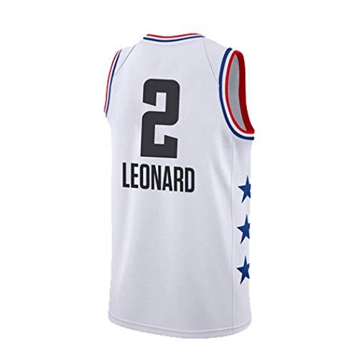 YSA Kawhi Leonard 2# NBA Global Star Baloncesto Jersey, NBA Los Angeles Clippers Camiseta sin Mangas Baloncesto SwingmanXS -XXL