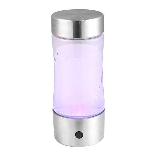 Fdit Lonizador de Agua con Alto Contenido de Hidrógen de Hidrógeno y Agua Saludable Vaso de Botella Portátil con USB Recargable Socialme-EU