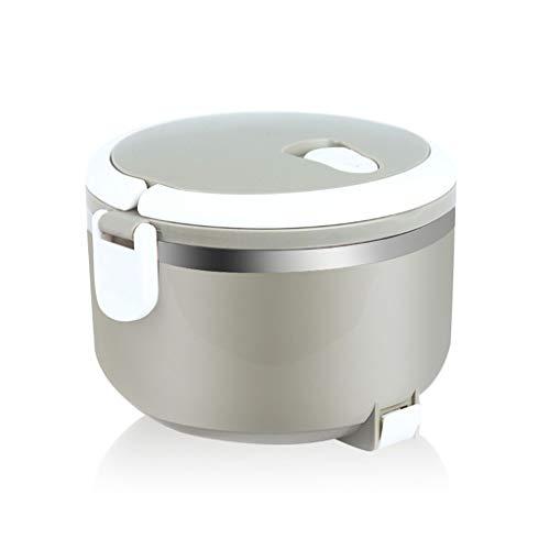 Fiambrera eléctrica Cargador para automóvil 12 V, Fiambrera eléctrica portátil con calefacción 850 ml, Calentador de Almacenamiento de Alimentos con contenedor extraíble de Acero Inoxidable