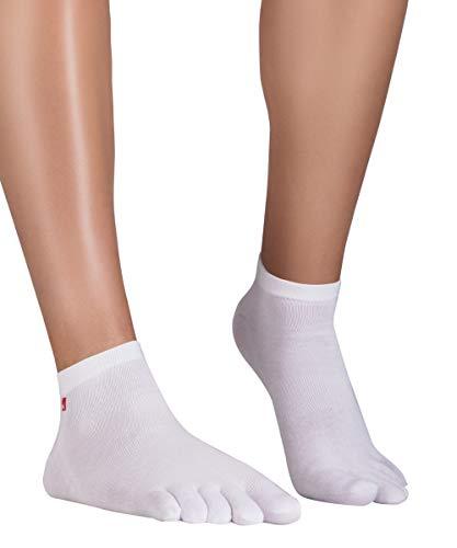 Knitido Track & Trail Ultralite Fresh Zehensocken-Sneaker Unisex, Größe:35-38, Farbe:weiß (002)