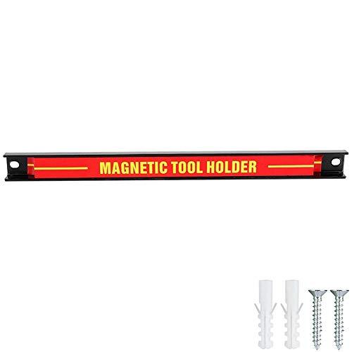 Magnetische gereedschaphouder zelfreparatie gereedschap magneethouder, beroep magneetgereedschaphouder gereedschapsopslag frame magneetstrippen 12 Inch zwart