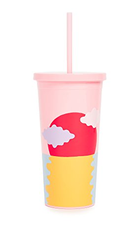 sip tumbler with straws Ban.do Sip Sip Insulated Tumbler with Reusable Straw, 20 Ounce Travel Cup, Happy Hour