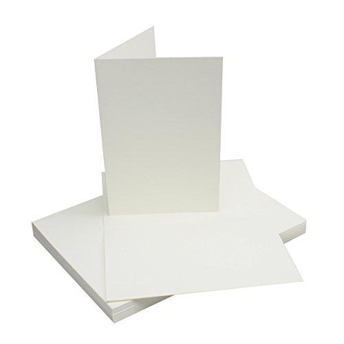 25x Faltkarten B6 - Natur-Weiss - Premium QUALITÄT - 11,5 x 17 cm - sehr formstabil - für Drucker geeignet! - Qualitätsmarke: NEUSER FarbenFroh!!