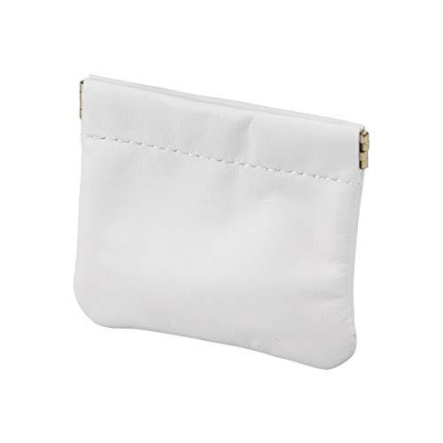 Fenical Geldbörse Leder Kopfhörer Tasche Kleine Kopfhörer Tragetasche (Weiß)