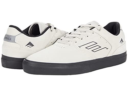 Emerica Men's Low Vulc Top Skate Shoe, White/Black, 9.5