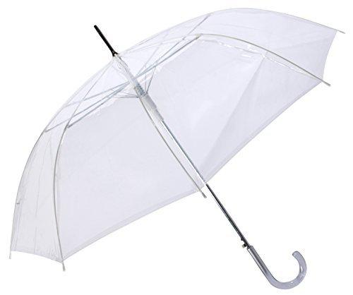 Cloak 46' Arc Auto Open Clear Umbrellas - Normal