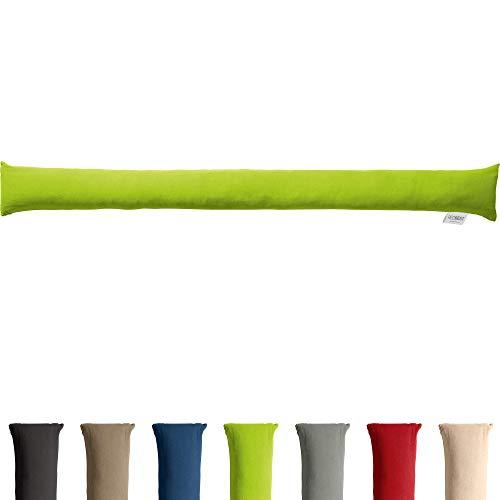 REDBEST Zugluftstopper - Türstopper - Windstopper - Luftzugstopper - Windschutz - für Fenster und Türen - Premium-Qualität - mit Beschwerung - grün - Größe 90x10 cm