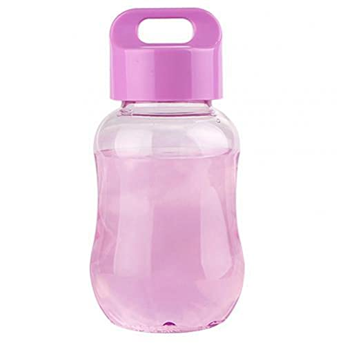UKKD Hervidor 100-200Ml Mini Portátil Botella De Agua Plástica Escuela Para Niños Botella De Bebida Botella De Agua Botella De Agua Bebida Taza-Purple