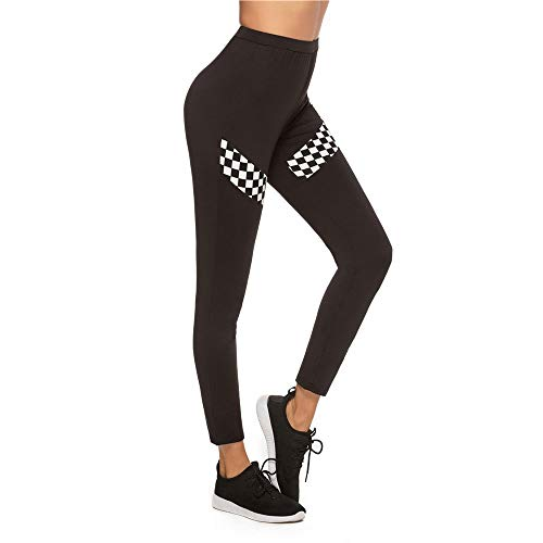 Women's High Waisted Billen yoga broek dames Elastische Fitness Sports Splicing joggingbroek Workout Leggings Slimming Scrunch Butt Lift Tights (Size : S)