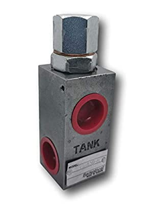 Adjustable Hydraulic Pressure Relief Valve 1/2' NPT RVT-850H 20gpm 1000-2500psi from Badestnost