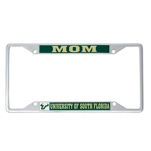 Desert Cactus University of South Florida USF Bulls NCAA Metal License Plate Frame for Front Back of Car Officially Licensed (Mom)