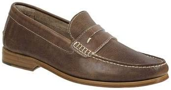 Sandro Moscoloni Men's Jeromy Moc Toe Handsewn Fancy Vamp Slip On with Leather Sole