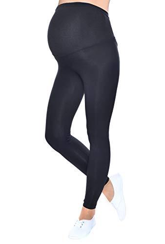 Mija - Qualität Komfortable Umstandsleggings für Schwangere Lange Hose 1042 (M/L, Schwarz)