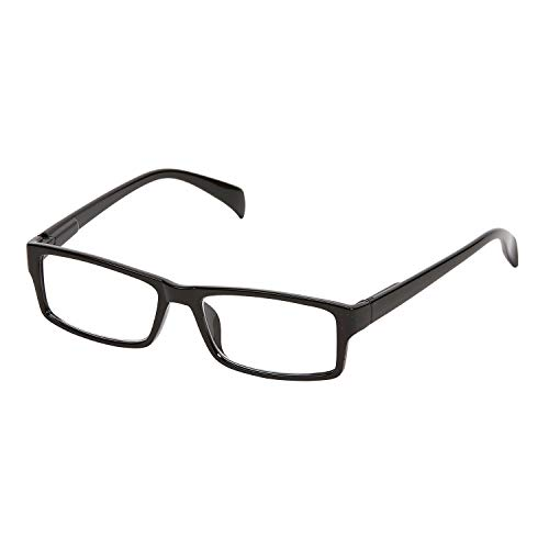 Tri Star Products Unisex One Power Reading Glasses - Men's Women's Magnifying Readers.5X - 2.5X - Square Frame