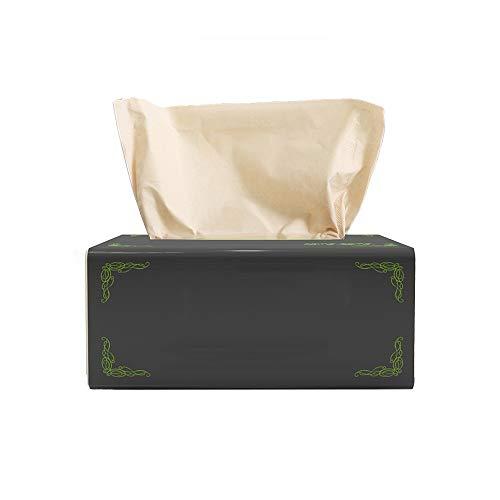 YANFEI 3 Lagen verdikte 24 Pakken ongebleekt Bamboo Pulp Paper, elk pak 300 papieren handdoeken, for huis en keuken, dagelijks gebruik Paper