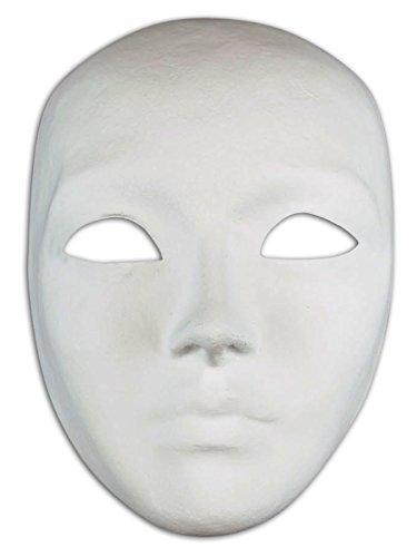 Magic of Venezia Venezianische Full Face Blankopapier Mache Maske Volto Do It Yourself für Männer und Frauen
